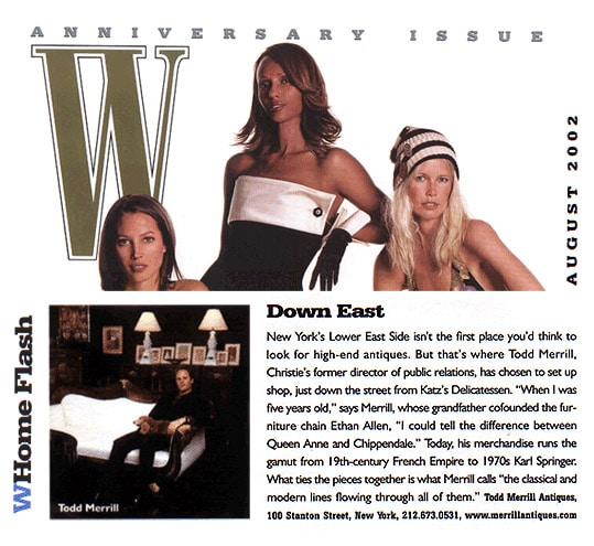 W magazine Back To The Future Todd Merrill 2002