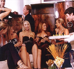 Above Right: Seated, from left, are Marisa Noel Brown, Michelle Smith, Brooke Maples, Holly Miller, and Amy Raiter. Standing behind is David Sullivan and Todd Merrill.