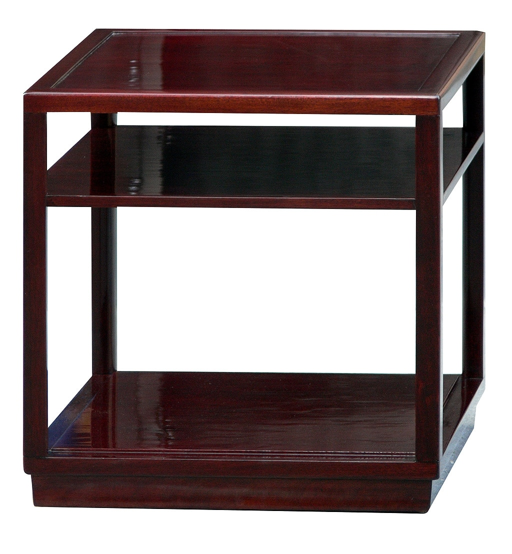 edward wormley dunbar janus side tables with shelves. Black Bedroom Furniture Sets. Home Design Ideas