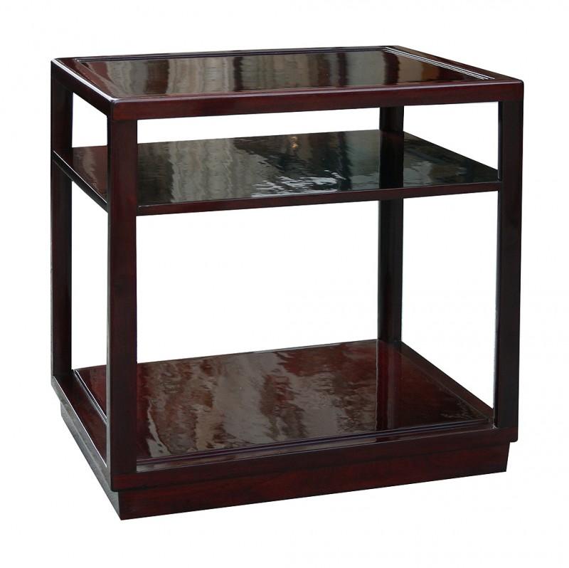 Edward Wormley Dunbar Janus Side Tables With Shelves