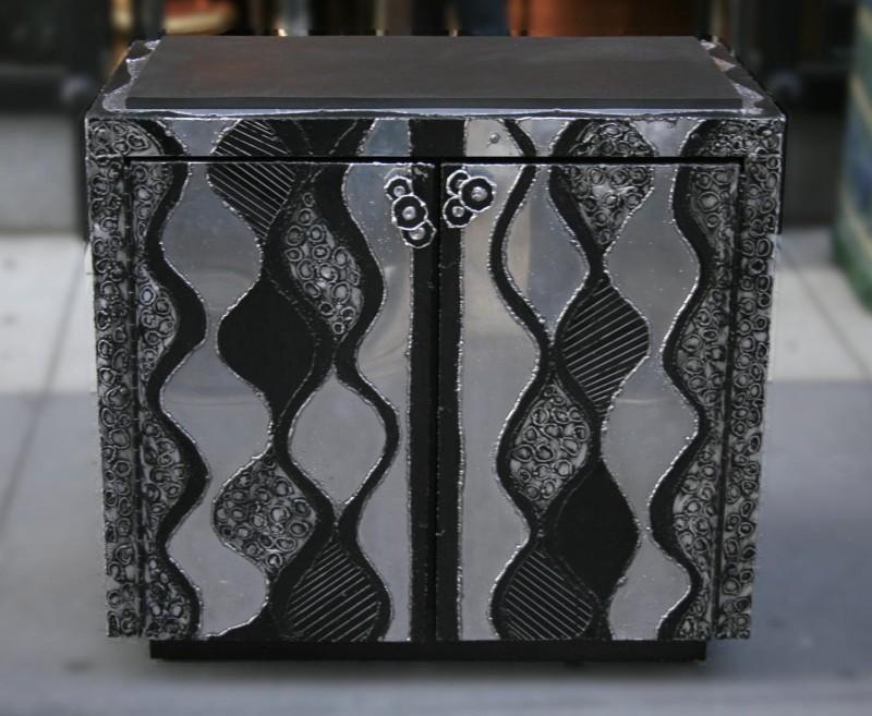 Paul Evans Rare Pair Argente Cabinets c.1970