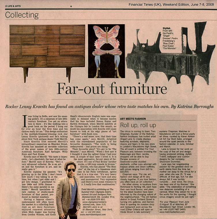 Financial Times - Far-Out Furniture - June 7-8 2008