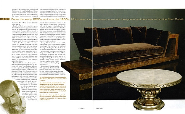 The Magazine ANTIQUES - What Modern Was - Showmanship and Fantasy: The Designs of James Mont - July 2008