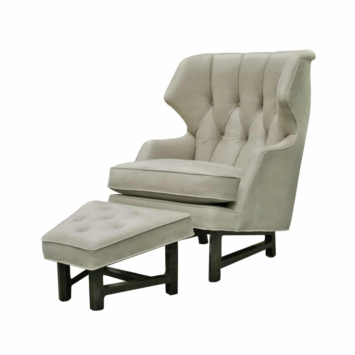 Edward wormley dunbar lounge chair and ottoman todd merrill studio - Edward wormley chairs ...