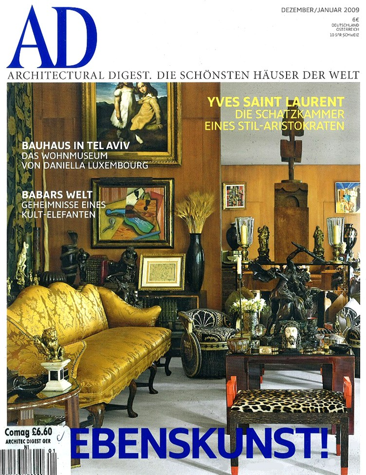 architectural digest germany festliche lekturejanuary 2009 todd merrill studio. Black Bedroom Furniture Sets. Home Design Ideas