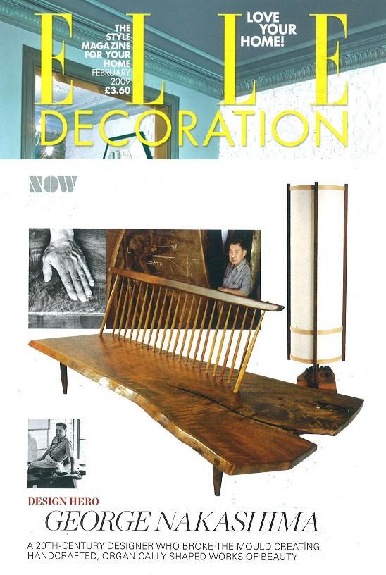 Elle Decoration Design Hero: George Nakashima February 2009