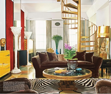 Elle Decor Gold Rush December 2009 Todd Merrill