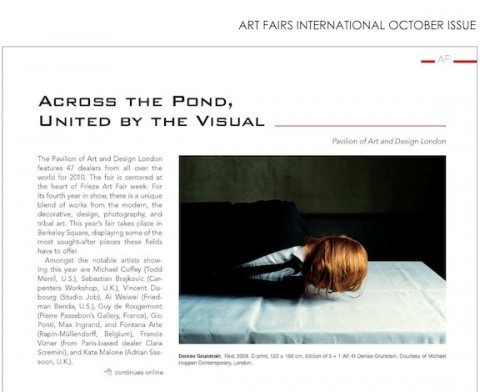 ART FAIRS INTERNATIONAL OCTOBER ISSUE