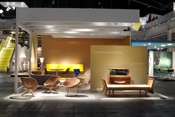 Demisch Danant's booth displayed the work of the underrated French postwar Modernist designer Joseph André Motte.