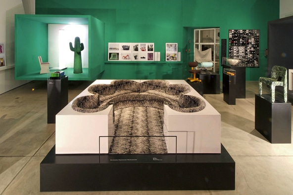 """At the Vitra Design Museum, the exhibition """"ZOOM: Italian Design and the Photography of Aldo and Marirosa Ballo"""" featured not just photographs by the famous duo but also objects by the great names in Italian design."""