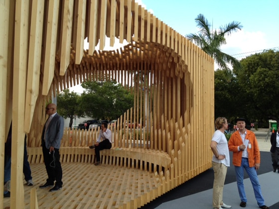 Architect David Adjaye's pavilion at the entrance of Design Miami