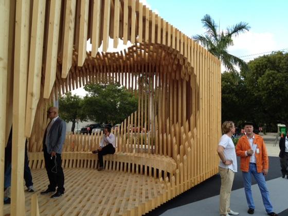 Architect David Adjaye's pavilion at the entrance of Design Miami