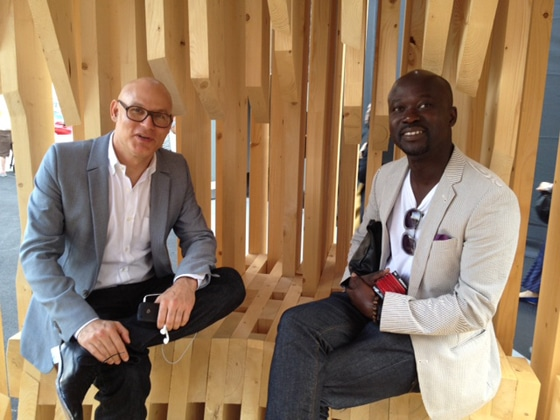 Design Miami founder Craig Robins and David Adjaye