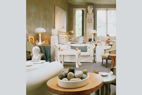 1970s decorator John Dickinson's San Francisco home with his iconic paw-footed table. ©John Vaughan, SF A Certain Style