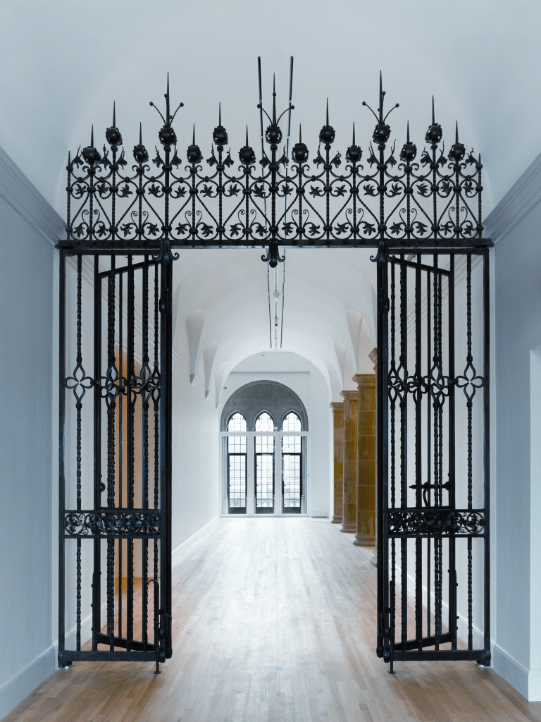 Restored wrought-iron gates by Samuel Yellin as recently installed on the third floor of the Old Yale Art Gallery building in the Yale University Art Gallery, New Haven, Connecticut. Photograph by Christopher Gardner.
