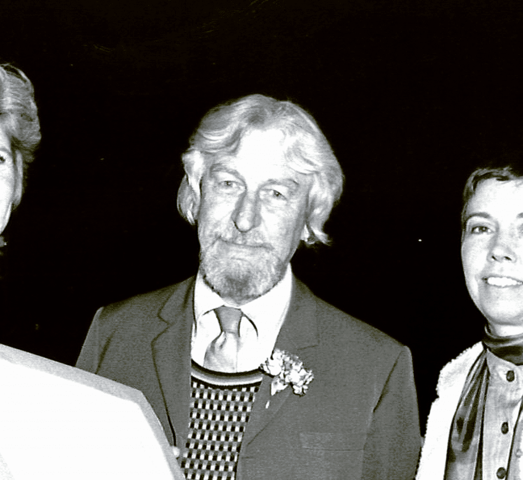 Rudolf Staffel (1911-2002) receiving the American Craft Council Fellows Award in 1978. Photograph by Jim Estrin, courtesy of the American Craft Council.