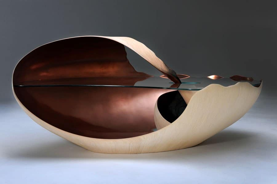 """Chosen by AD Daily as """"10 perfect pieces from Collective Design Fair"""" Mollusque low table, 2012, by English furnituremaker Marc Fish. Shown by Todd Merrill Studio Contemporary."""