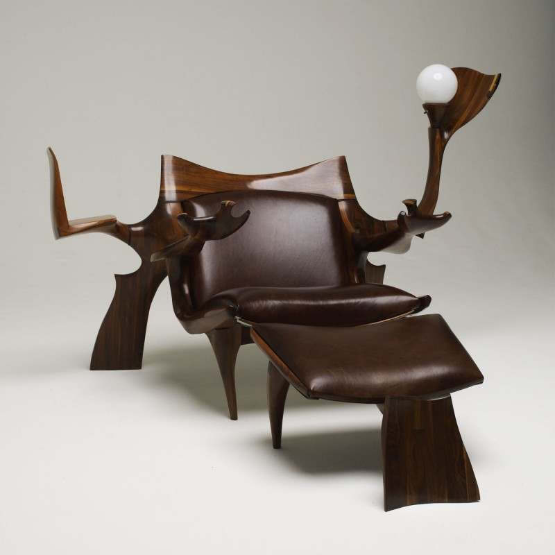 Jack Rogers Hopkins Custom Lounge Chair And Ottoman Usa 1972 Todd Merrill Studio