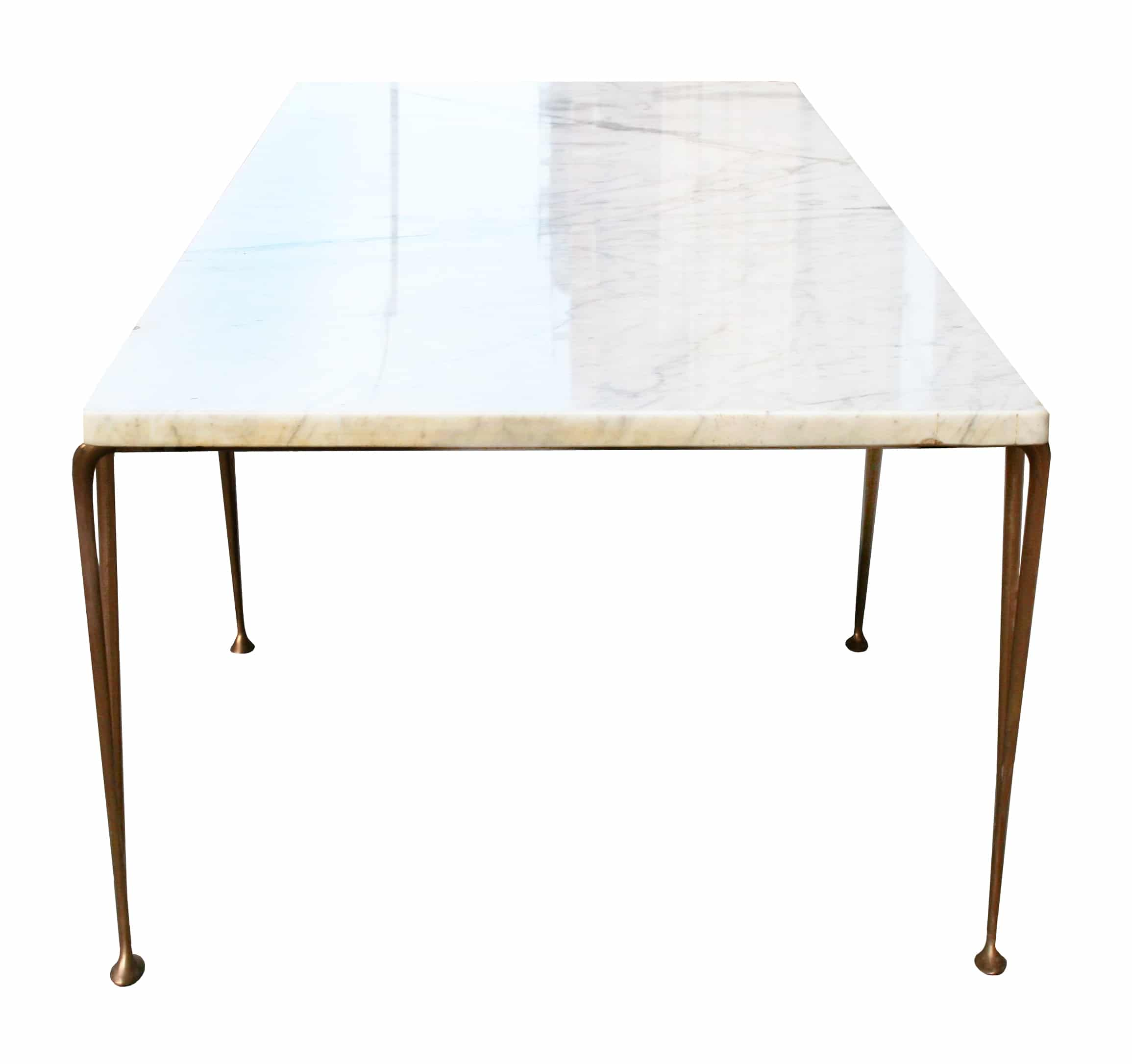 Hugh Acton Marble And Brass Coffee Table