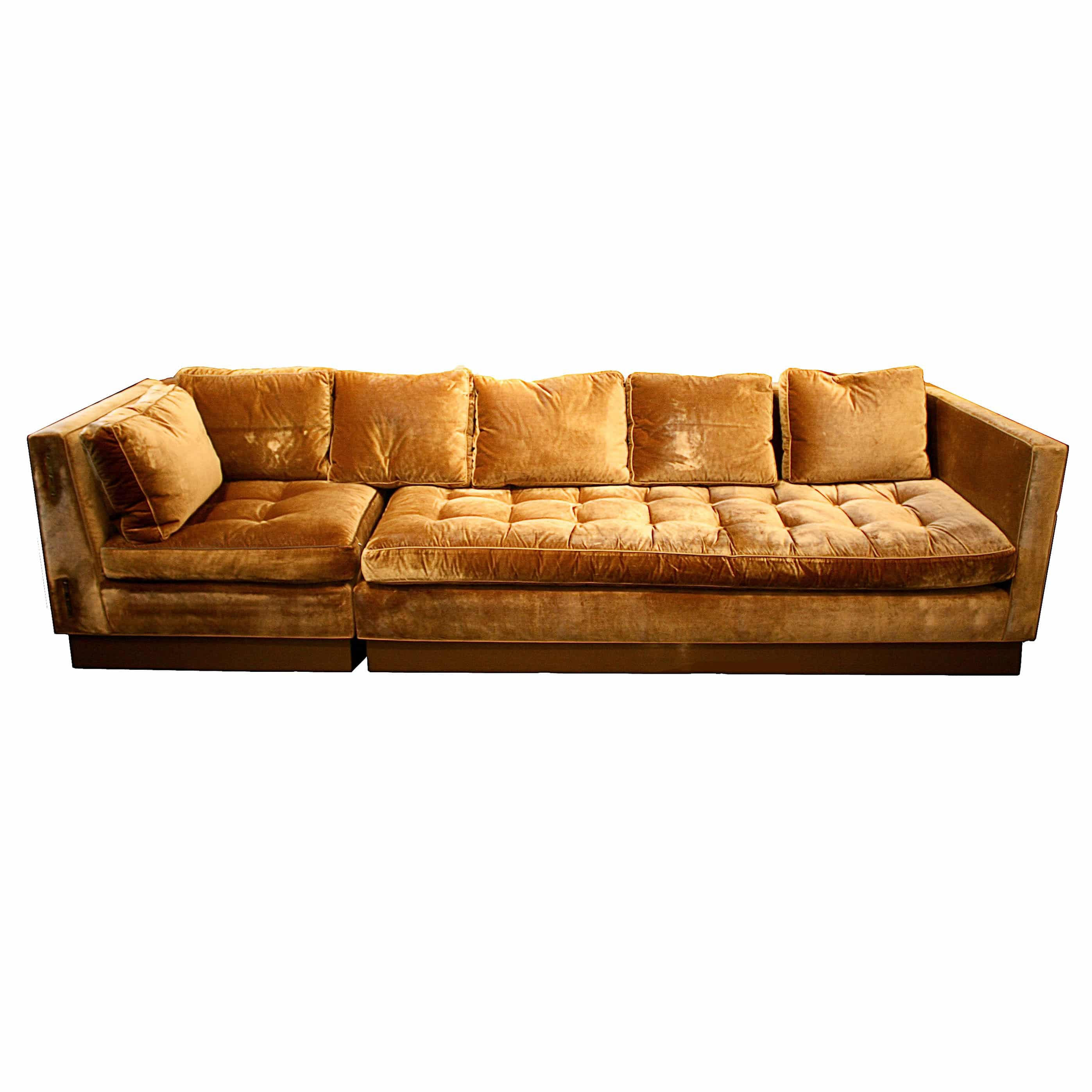 Gold Velvet Sofa TheSofa