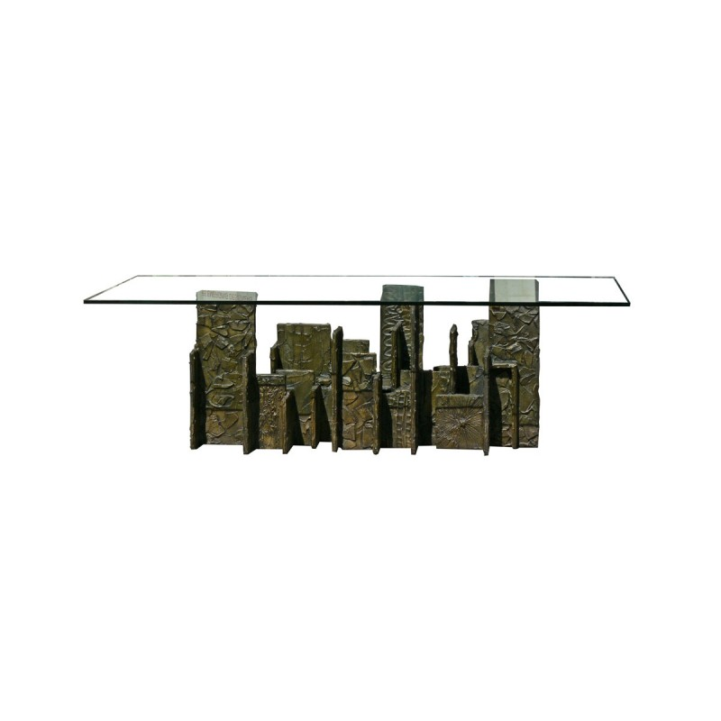 Paul Evans Dining Table in Sculpted Bronze 1971 II
