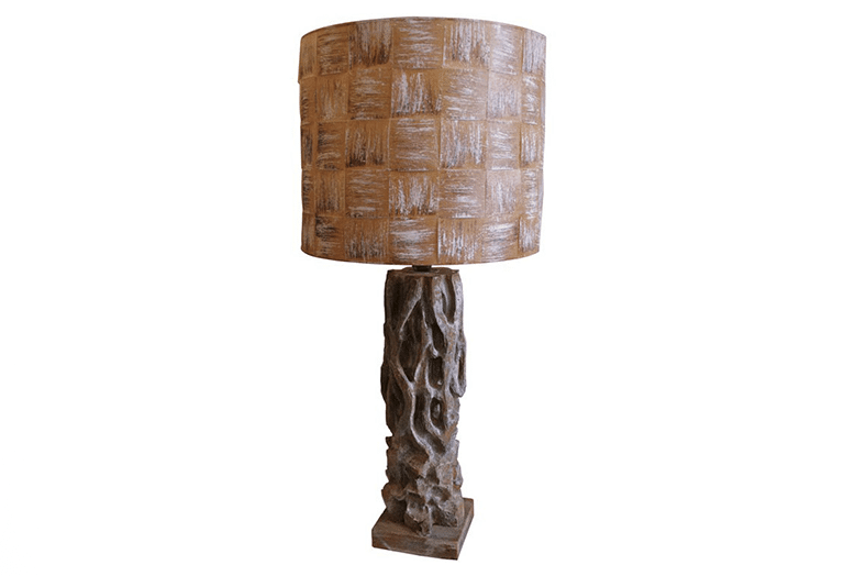 James Mont, Oversized Carved Wood Table Lamp, USA, c. 1950's ...