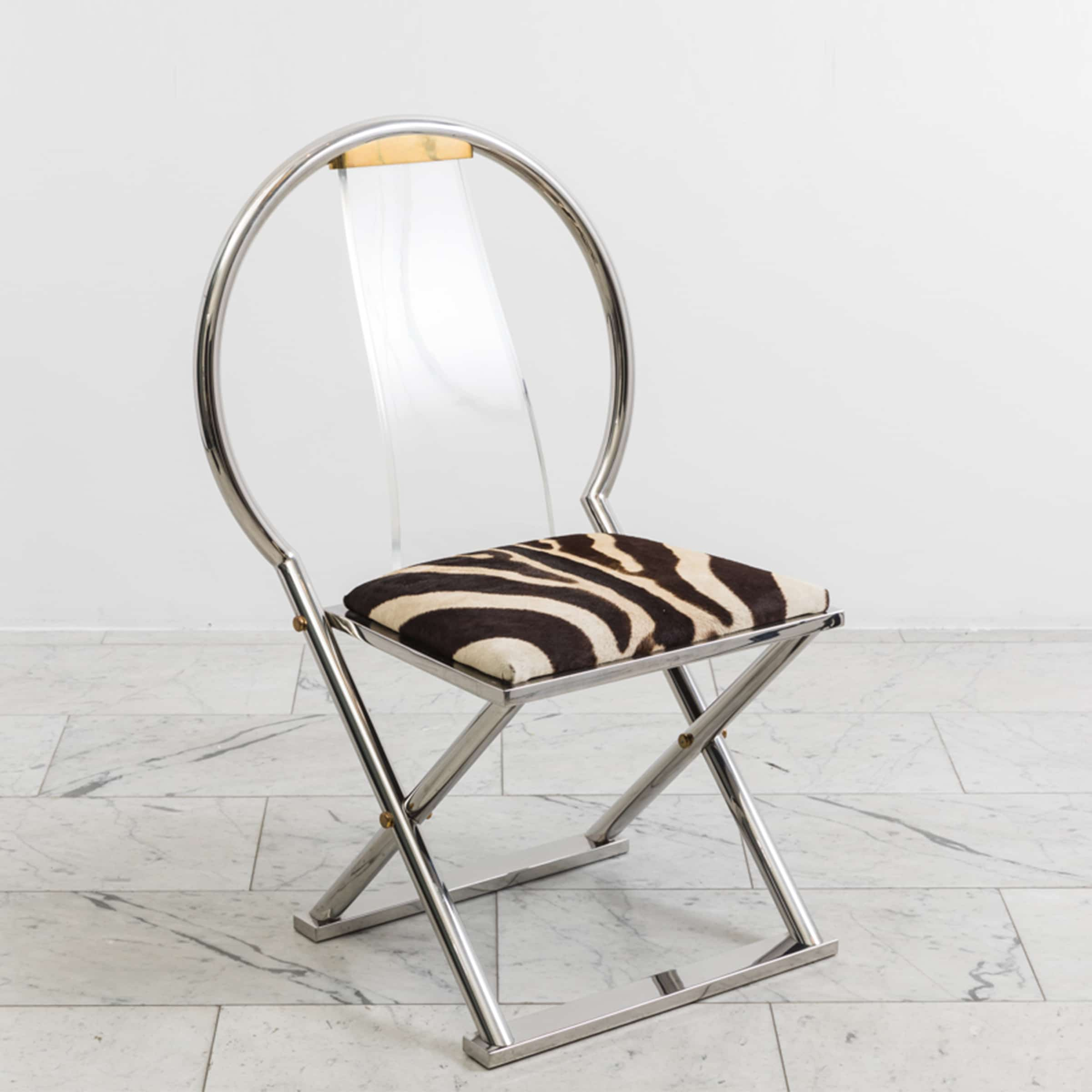 Karl Springer Chinese Curved Back Chair Usa Circa 1980s
