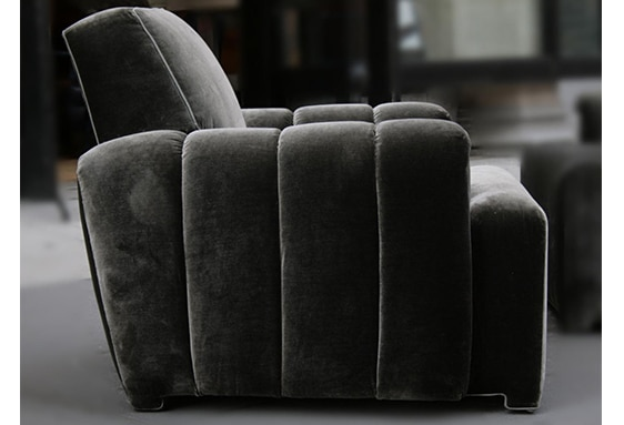 Todd Merrill Custom Originals Channel Tufted Club Chair