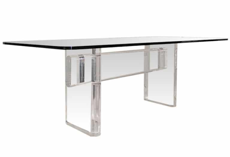 Karl Springer Lucite Dining Table Todd Merrill Studio