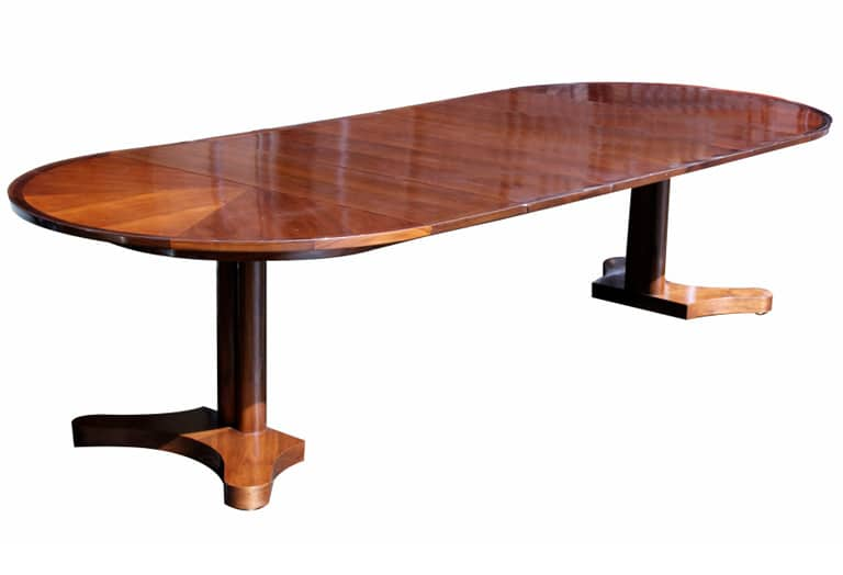 Edward Wormley Dunbar Round Dining Table 4 10 Extension Todd