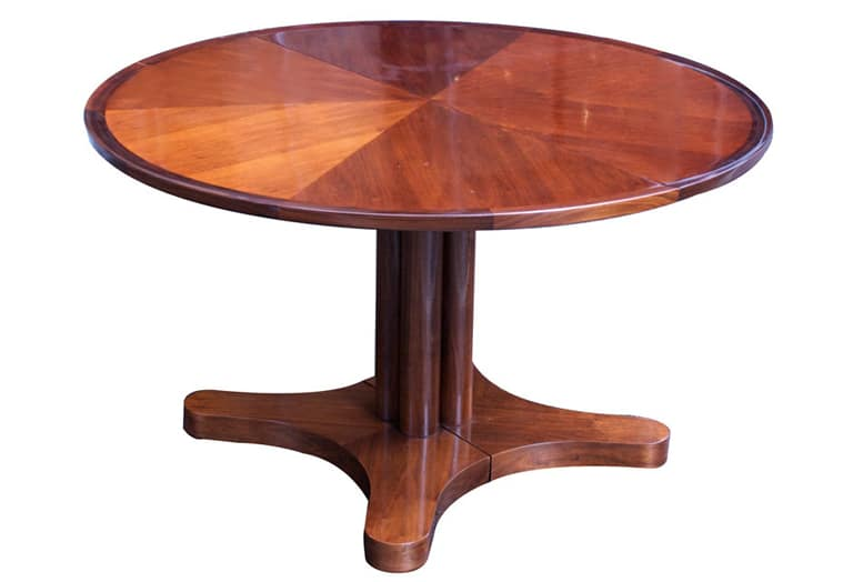 Edward Wormley Dunbar Round 4 10 Extension Dining Table
