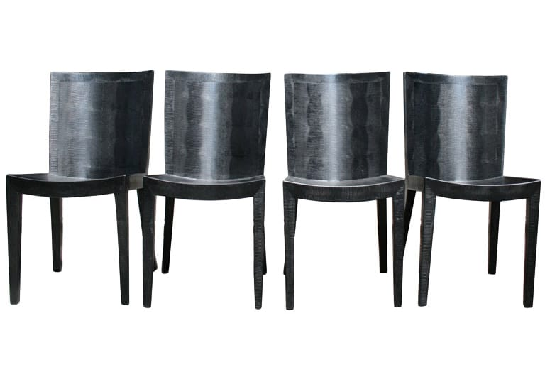 Superior Jean Michel Frank Set Of Four JMF Chairs. By Karl Springer