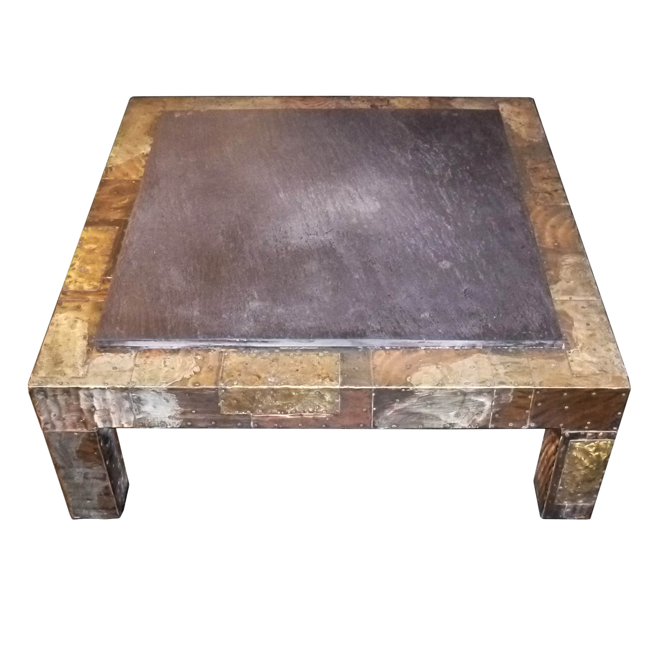Paul evans patchwork coffee table with slate top usa circa 1970s todd merrill studio Slate top coffee tables