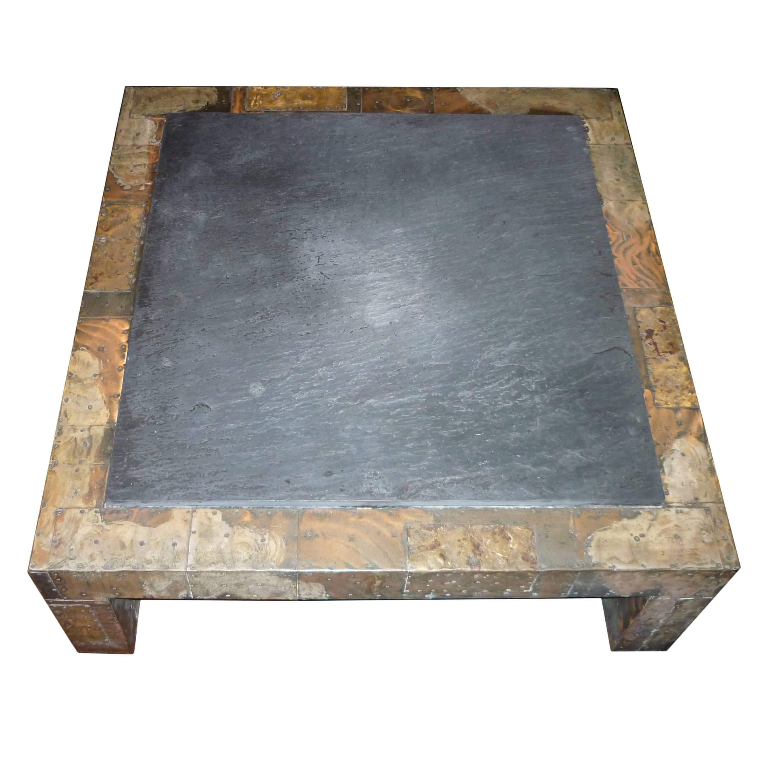 Paul Evans Patchwork Coffee Table with Slate Top USA Circa 1970s