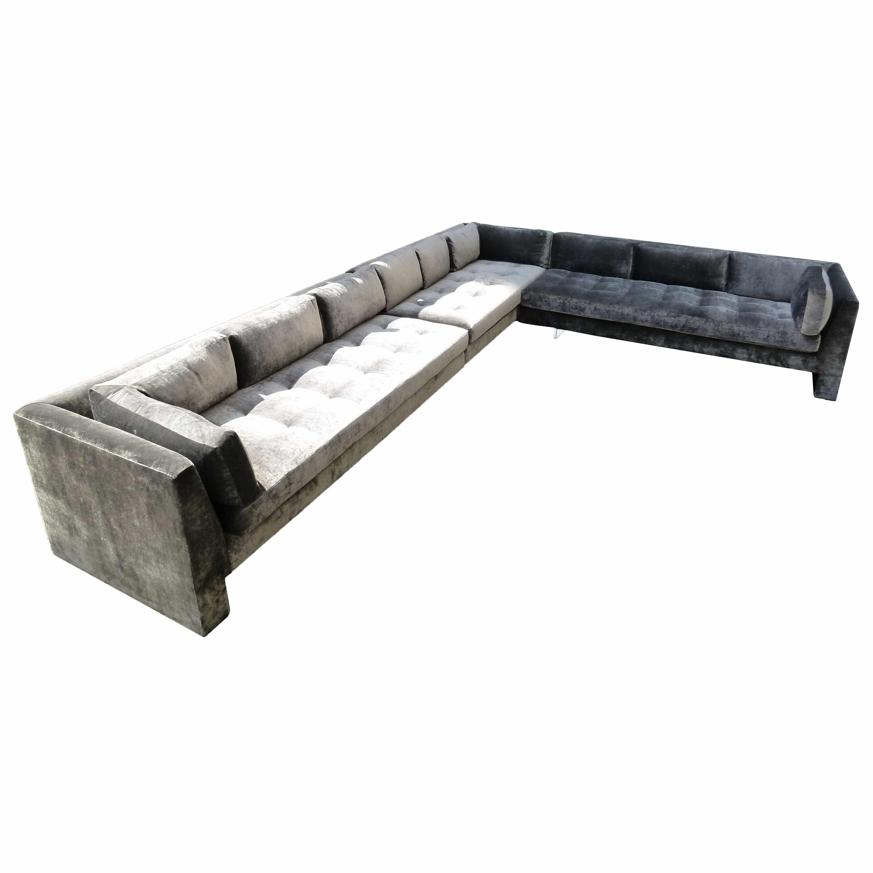 Vladimir Kagan Extra Custom Sofa USA c 1970 s