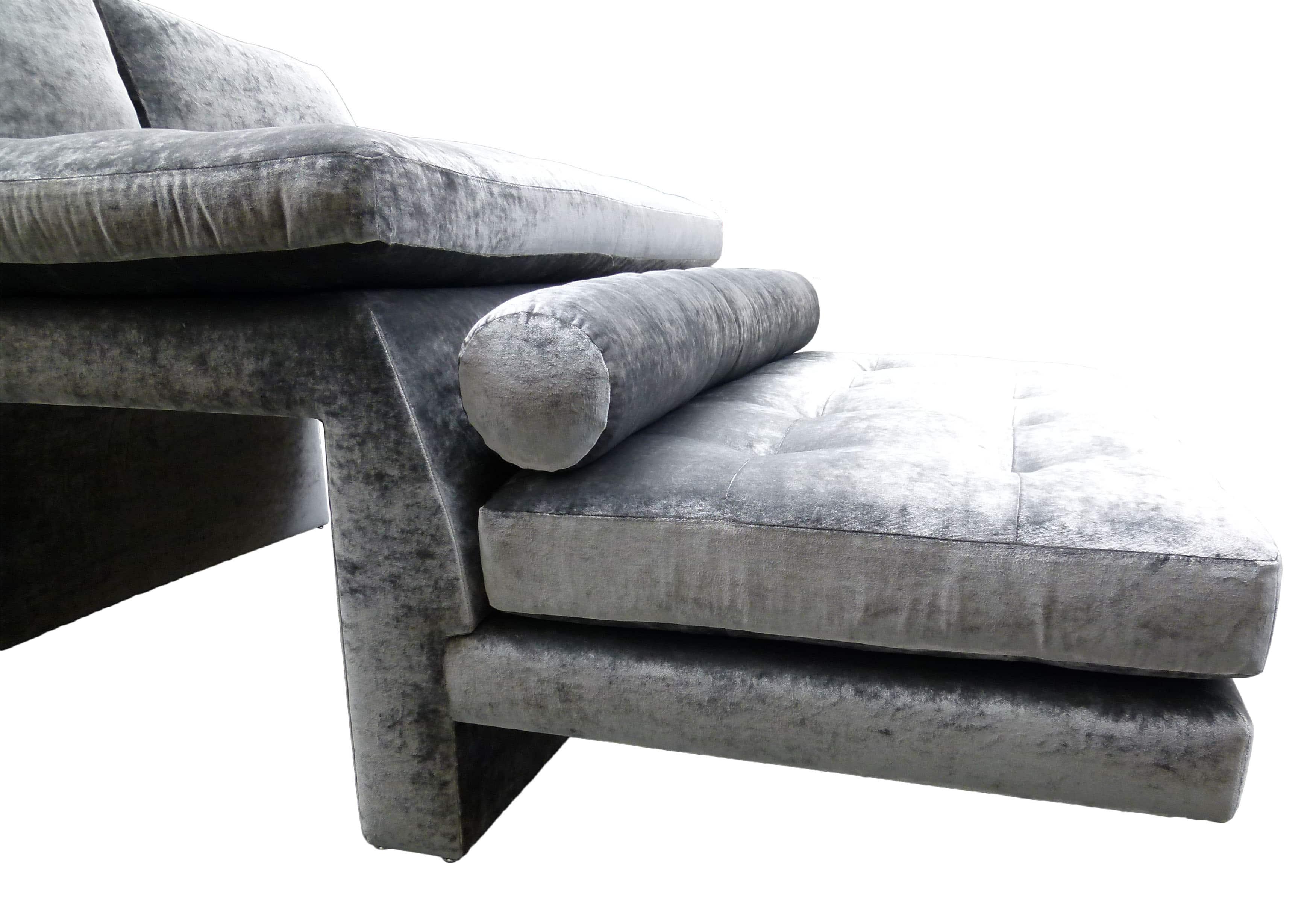 Vladimir Kagan Double Wide High Low Sofa