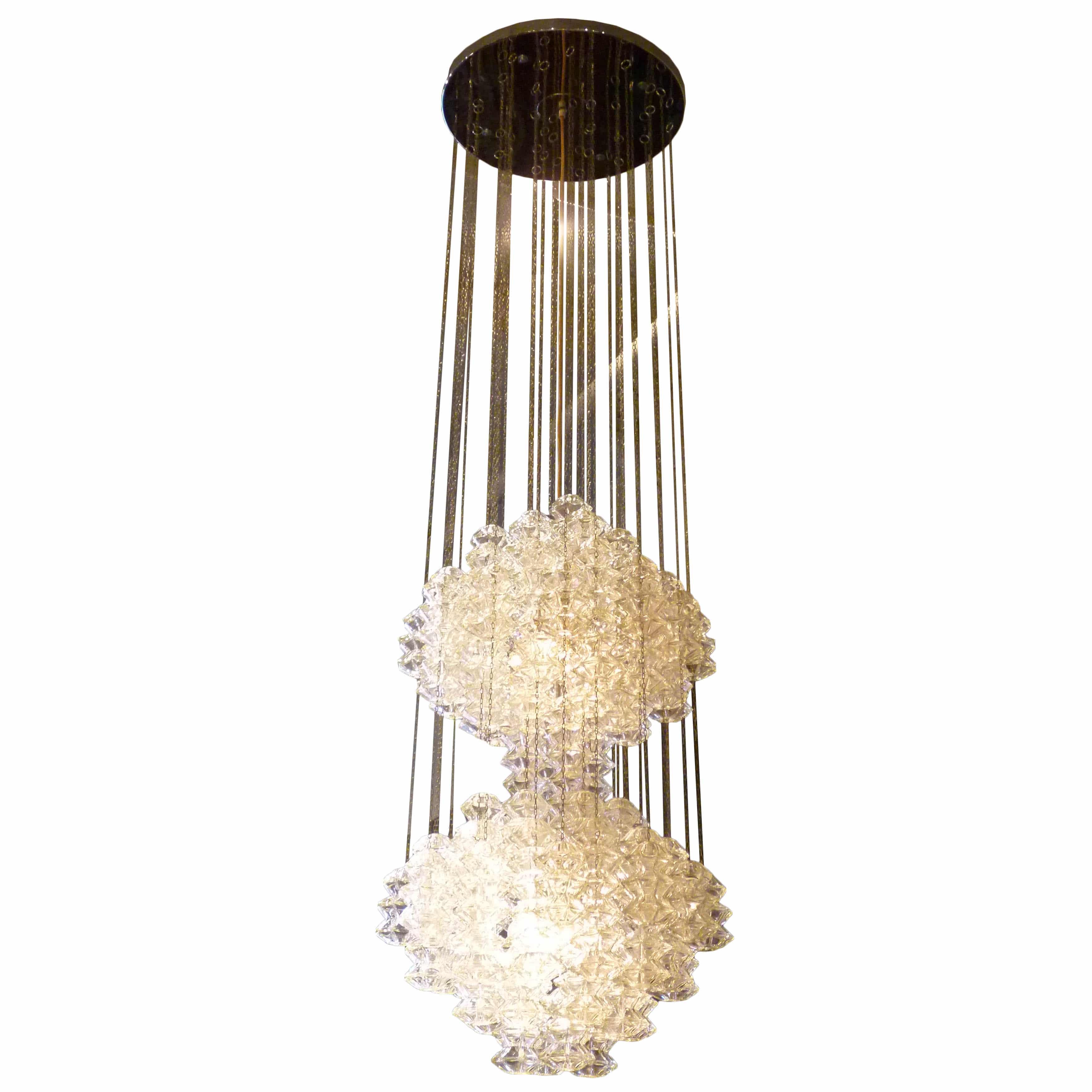 metal pagoda traditional chandeliers lighting co chandelier lobmeyr glass dering ceiling kneen hall