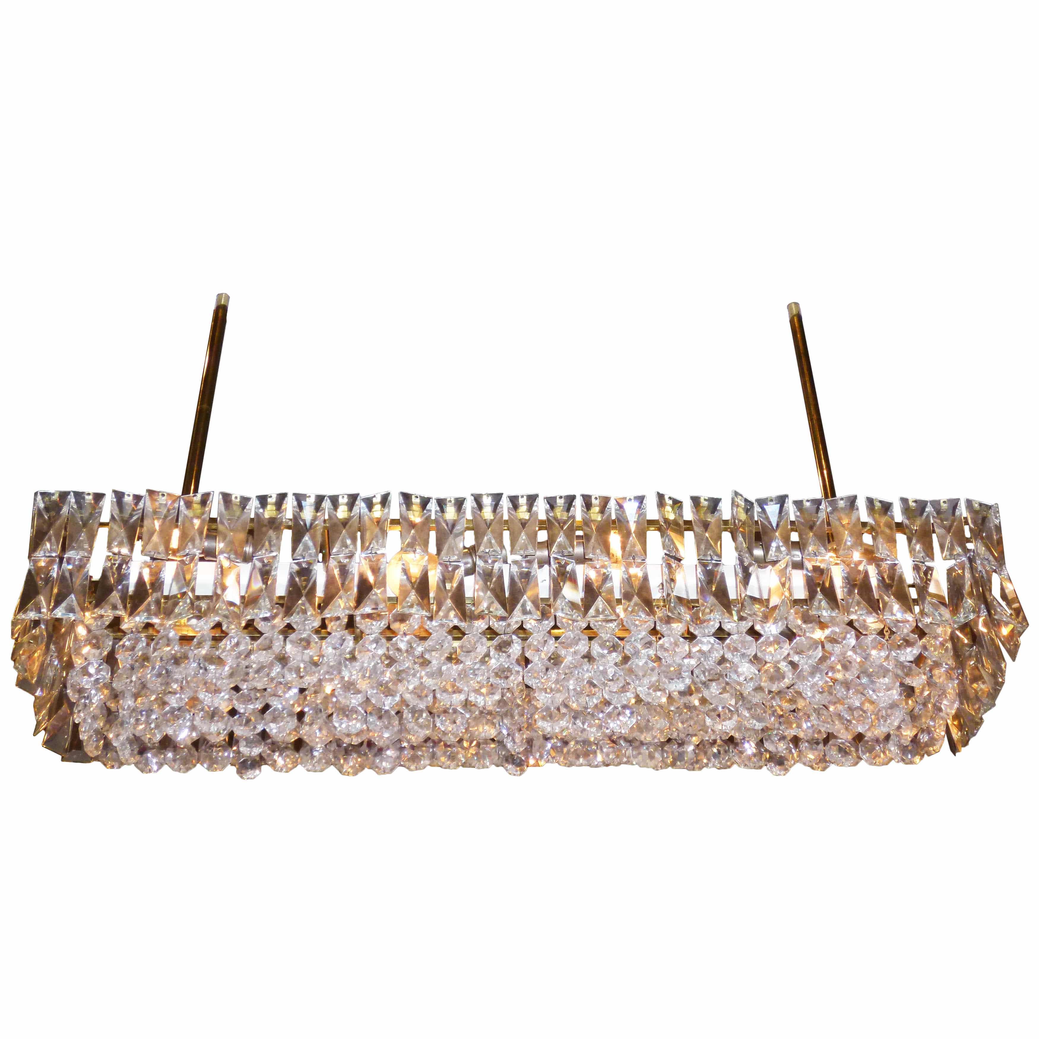 J l lobmeyr crystal chandelier vienna ca 1960 todd merrill j l lobmeyr crystal and brass box chandelier mozeypictures Choice Image