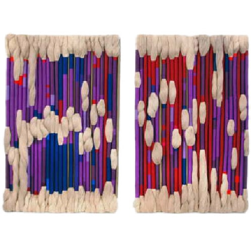 Sheila Hicks, Pair of Fiber Art Panels, ca.1970