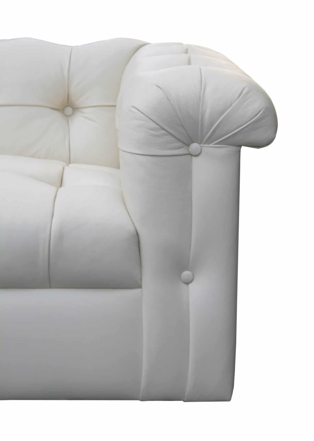 Edward Wormley Dunbar Eight Foot Tufted Leather Sofa