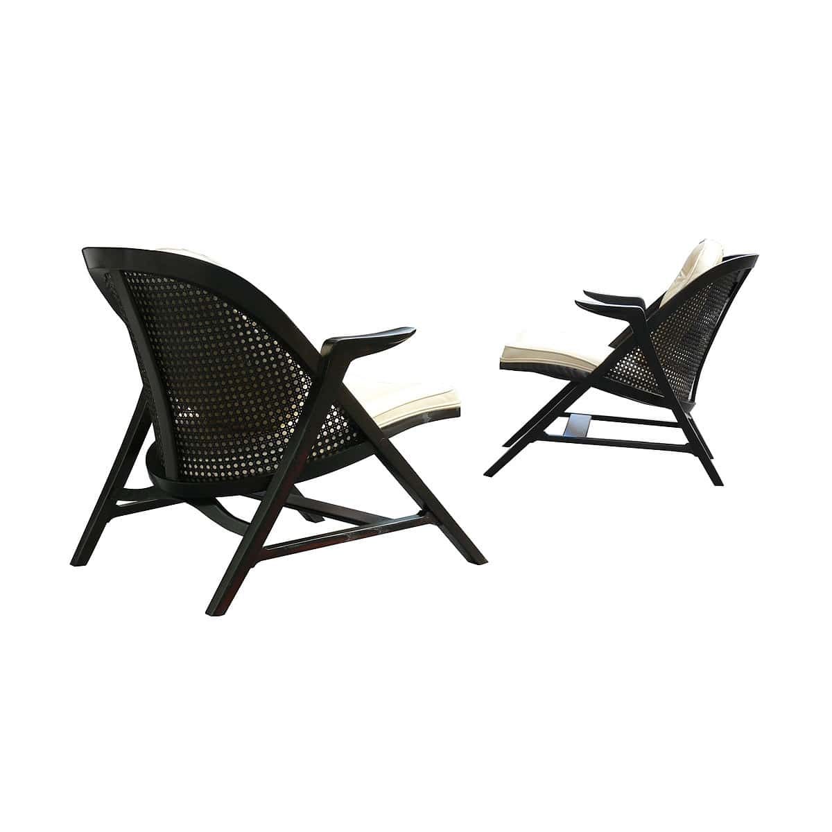 Edward Wormley Dunbar Janus Lounge Chairs