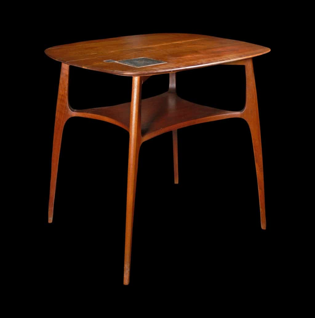 8cd84a41df37 Edward Wormley Dunbar Rare End Table with Tiffany Tiles - Todd Merrill