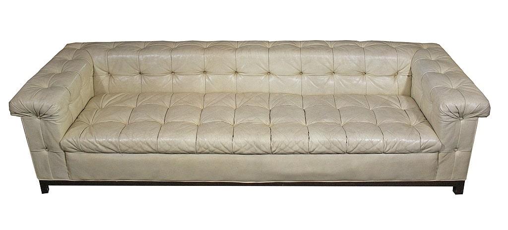 Edward Wormley Dunbar Tufted Leather Sofa. Edward ...