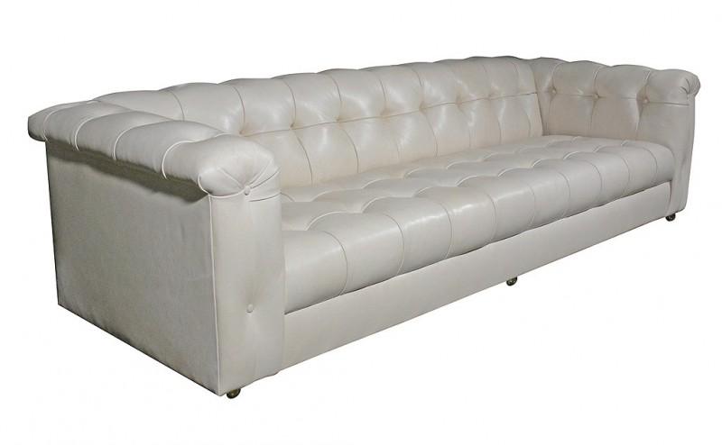 Edward Wormley Dunbar Tufted Leather Sofa II
