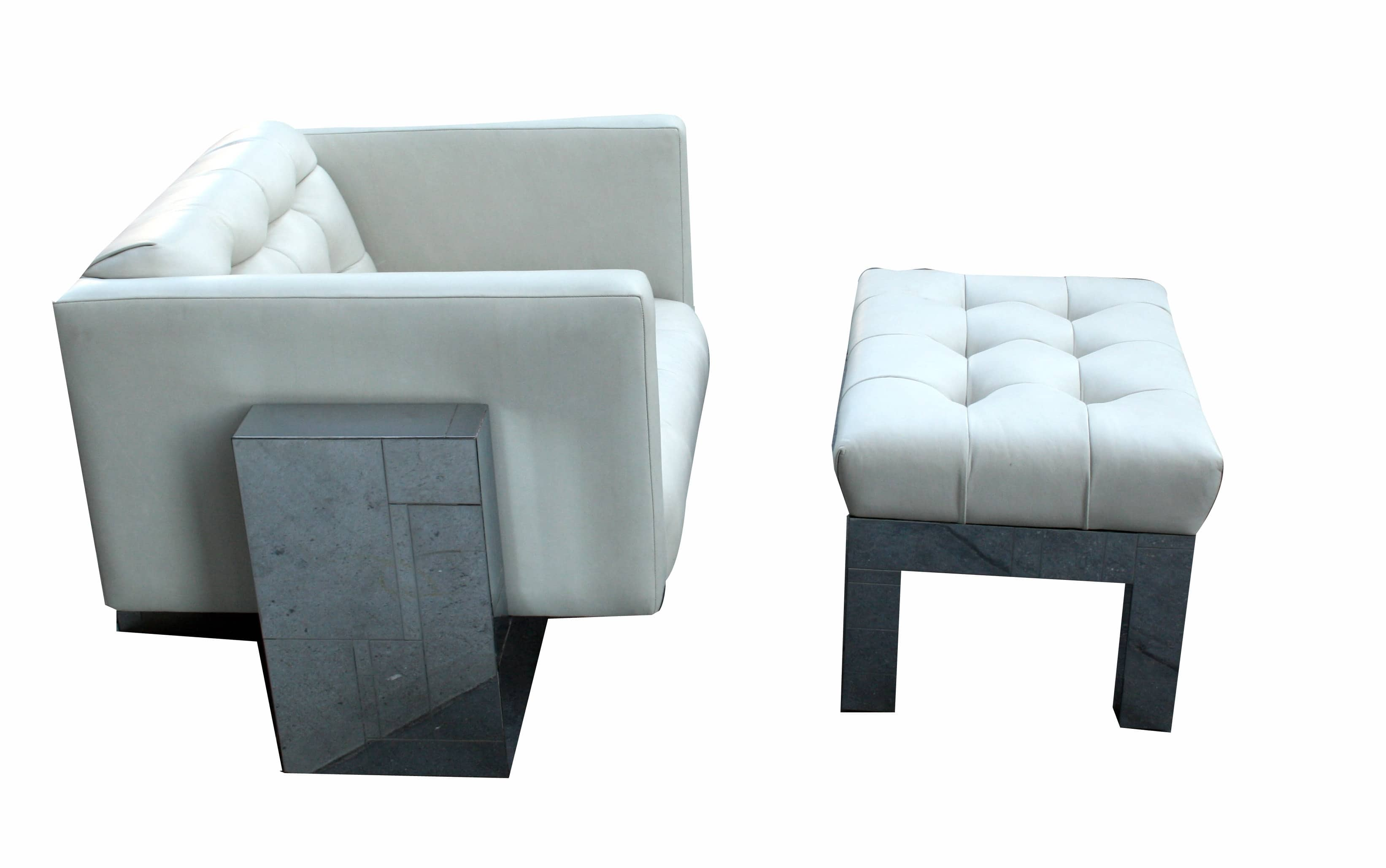 Paul Evans Directional Cityscape Lounge Chair and Ottoman