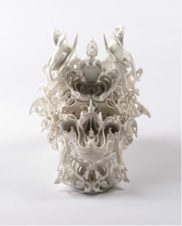 Katsuyo Aoki, Predictive Dream Series Skull no. 44, JAP, 2013. Porcelain.