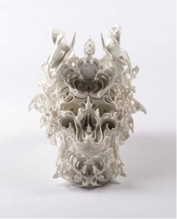 Katsuyo Aoki, Predictive Dream Series Skull no. 44, JAP, 2013. Porcelain.