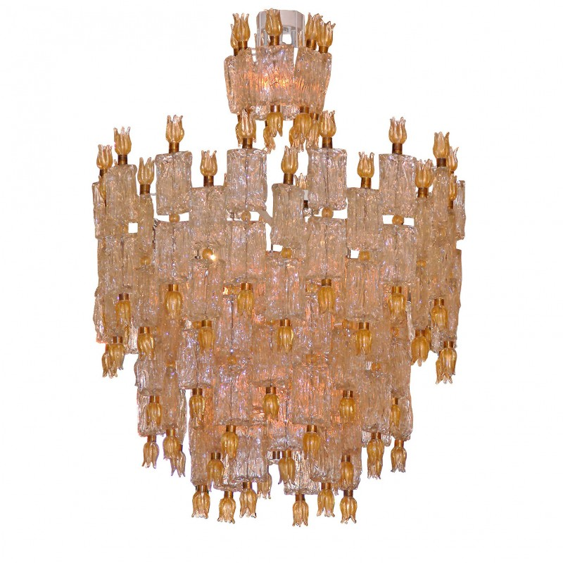 Barovier & Toso for Paul Laszlo Chandelier