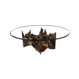 Paul Evans Coffee Table in Sculpted Steel