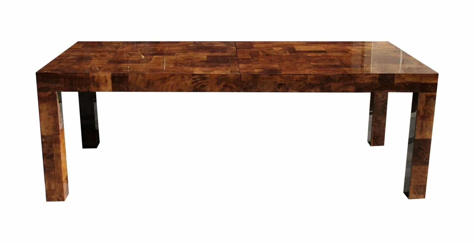 paul evans dining table in walnut burl todd merrill studio On walnut dining table